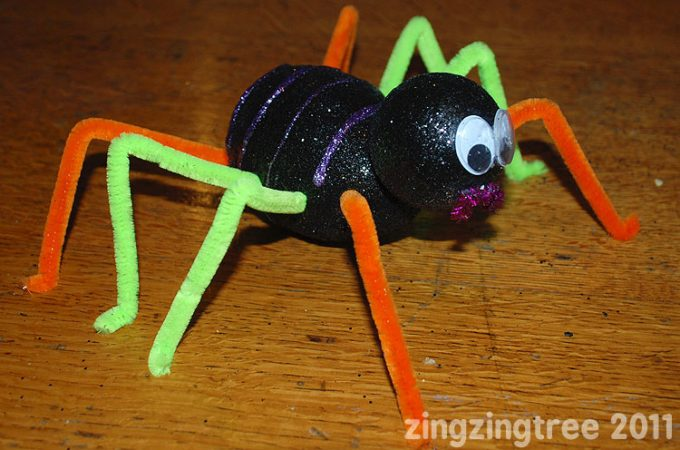 Sparkly spider craft