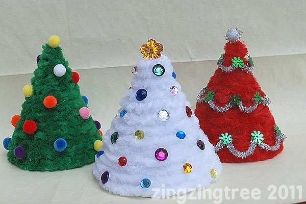 Cone Christmas Tree Decorations – The Fluffy Kind!