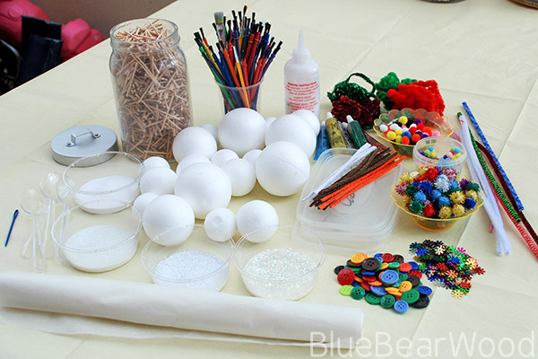 Craft Materials To Make A Snowman