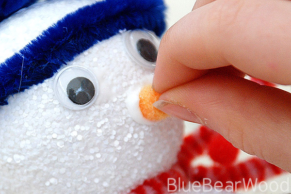 Pipe Cleaner Snowman Nose