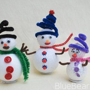 Sparkly Snowman Craft