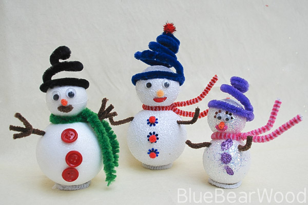 Sparkly Snowman Christmas Craft