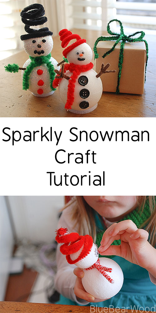 Sparkly Snowman Kids Craft Tutorial