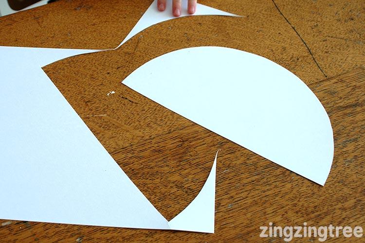 Cardboard semi circle