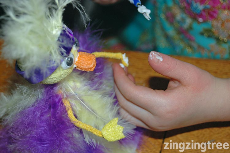 Crafting with feathers