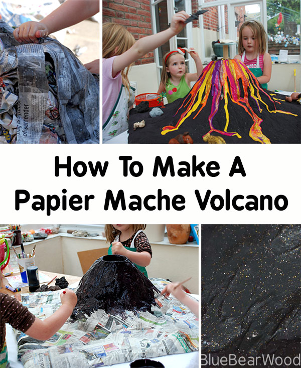 How To Make A Papier Mache Volcano For The Science Fair