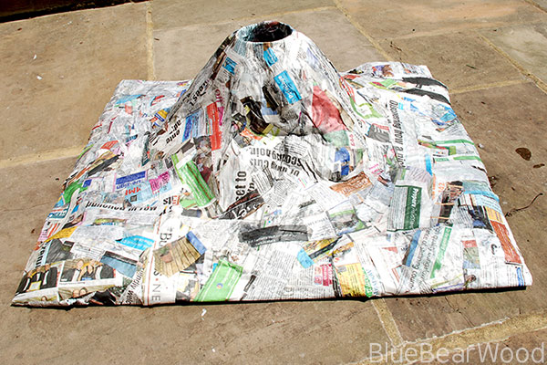 Drying Out A Papier Mache Volcano