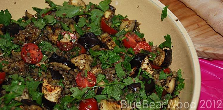 Aubergine-&-Lentil-Salad
