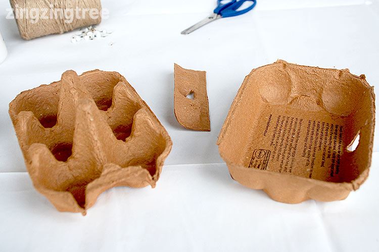 Egg carton Halloween craft