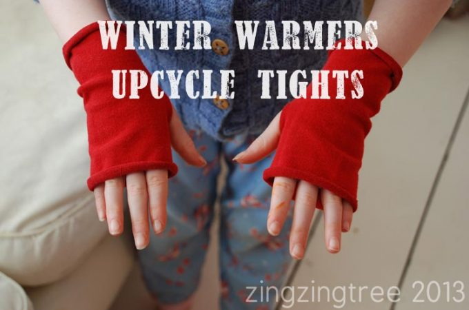 Upcycle Wool Tights Into Cool Fashionable Fingerless Gloves