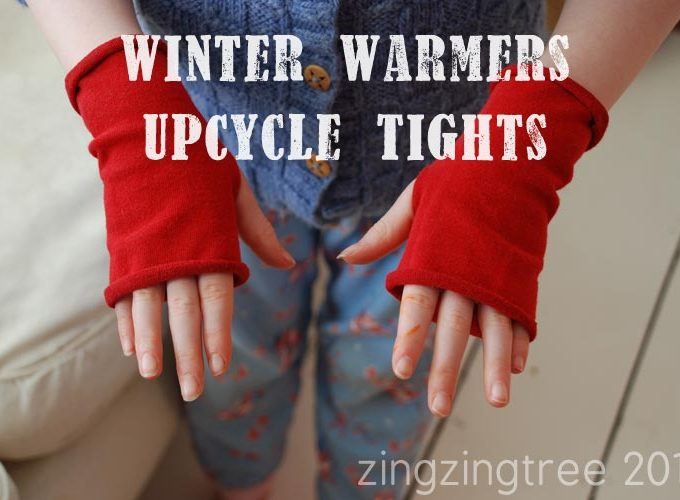 Upcycle Old Woolen Tights Into Fingerless Gloves