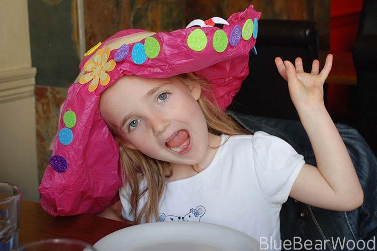 How To Make Your Own DIY Tissue Paper Hat Easter Hat