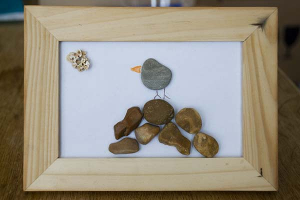 Rock Bird Pebble Art
