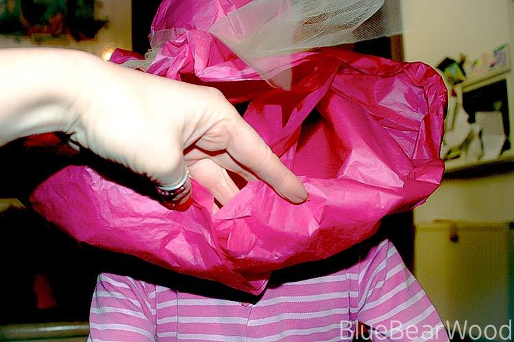 tissue paper hat