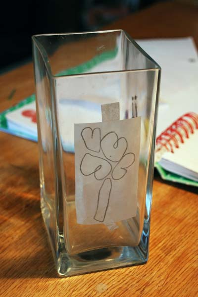 Glass Paint stencil