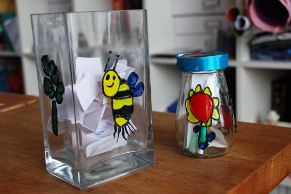 painted memory Jars