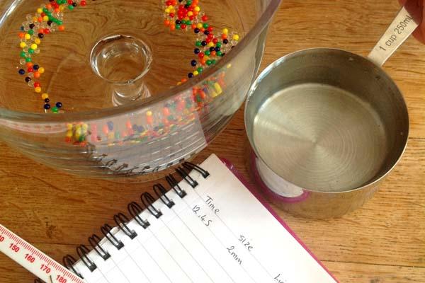 Aqua bead experiments