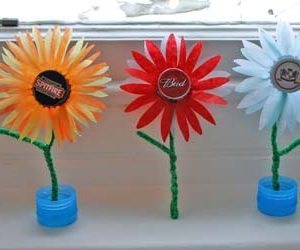 Bottle top flowers