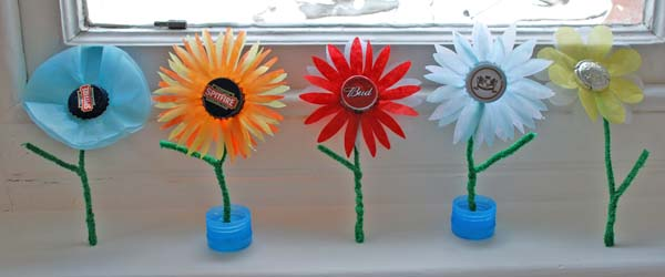 Metal Bottle Top Spring Flowers