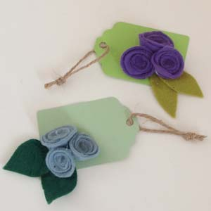 Triple flower tag