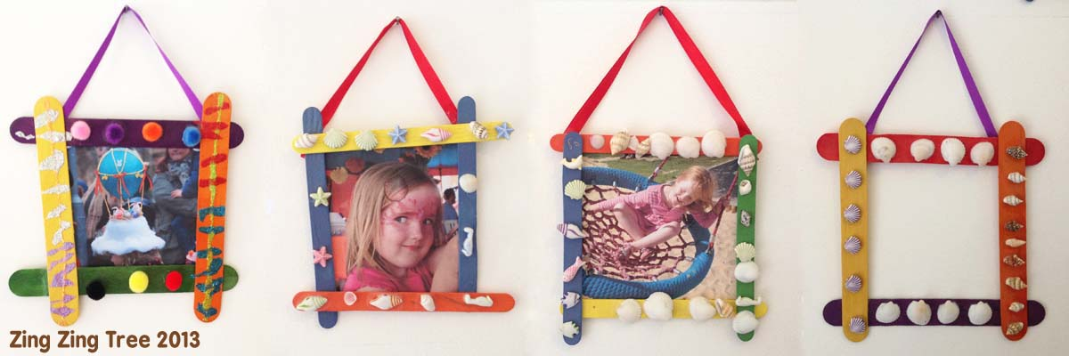Craft Stick Picture Frames