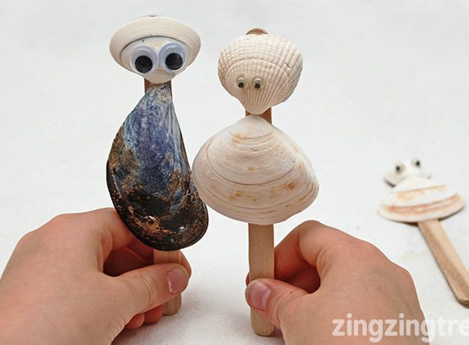 Stimulate Your Childrens Imagination With These Simple Sea Shell Puppets