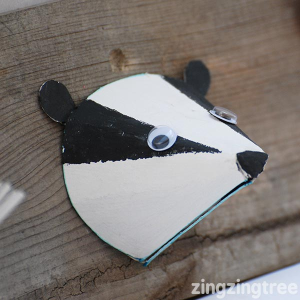 Paper Cone Badger Craft Woodland Animal