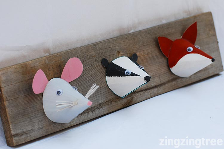 Woodland Animal craft badger, fox, mouse