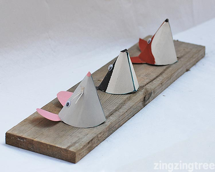 paper woodland animal craft