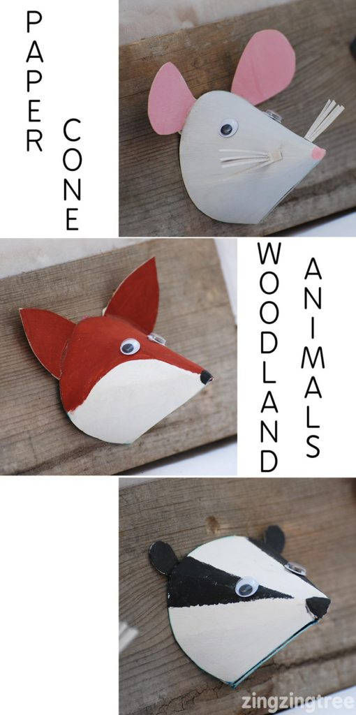 paper-cone-woodland-animal-craft