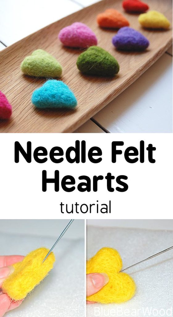 Step By Step Needle Felt Heart Tutorial