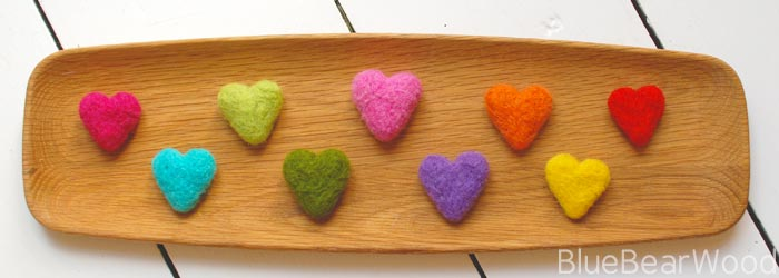 How To Make DIY Needle Felt Hearts