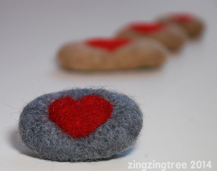 Valentine Pebble Hearts