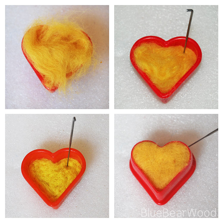 How to make needle felt hearts