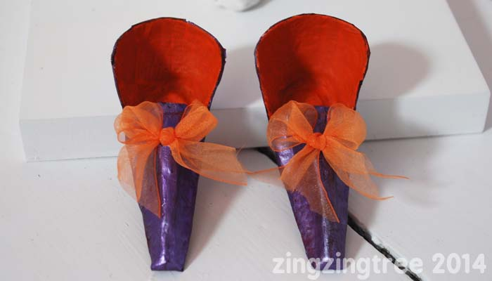 Egg Box Fairy Shoes Wth Bows