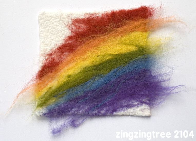 Rainbow Needle Felt