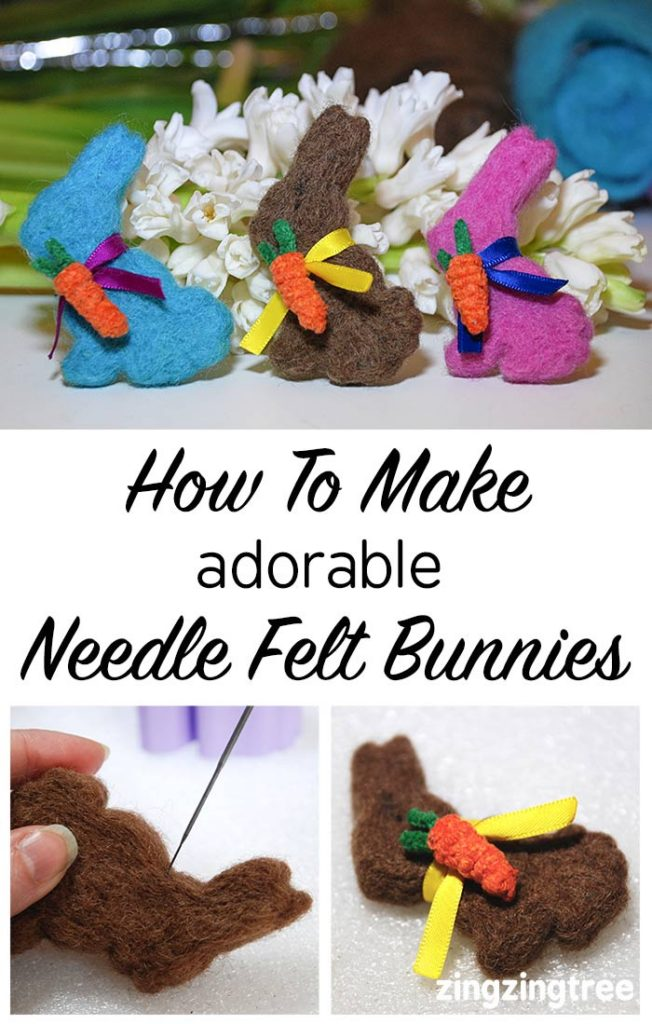How to make adorable needle felt easter bunnies