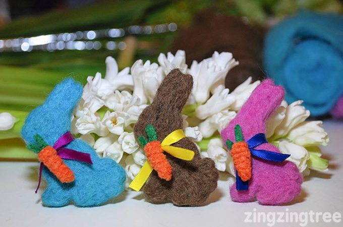 How To Make An Adorable Needle Felt Easter Bunny