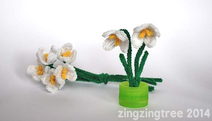 Pipe Cleaner Snowdrop Spring Flowers