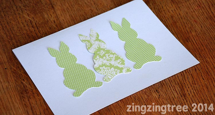 Paper Bunny Card Craft
