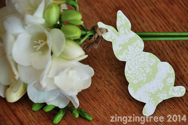 Paper Bunny Gift Tag