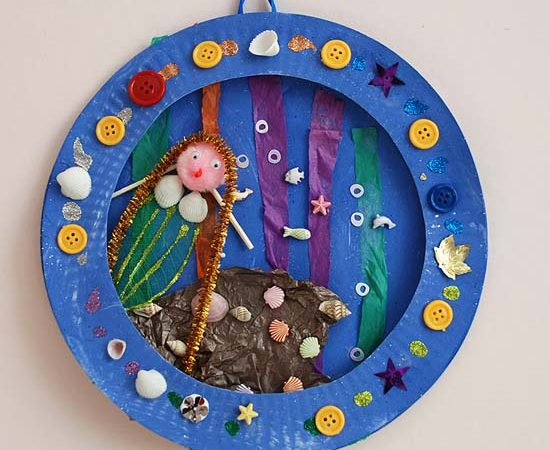 Mermaid Paper Plate Collage