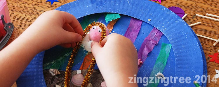 Mermaid Paper Plate Craft