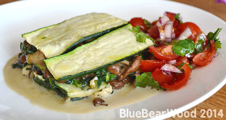 Wild Mushroom And Courgette (zucchini) Stack
