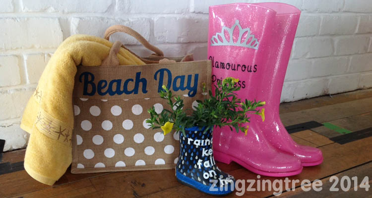 Cricut Wellies and Beach Bag Vinyl