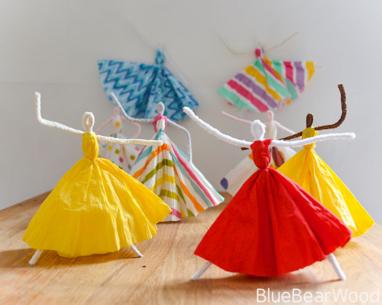 Dancing Pipe Cleaner Princesses