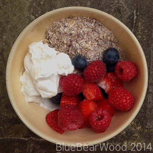 Summer Fruit Muesli Breakfast