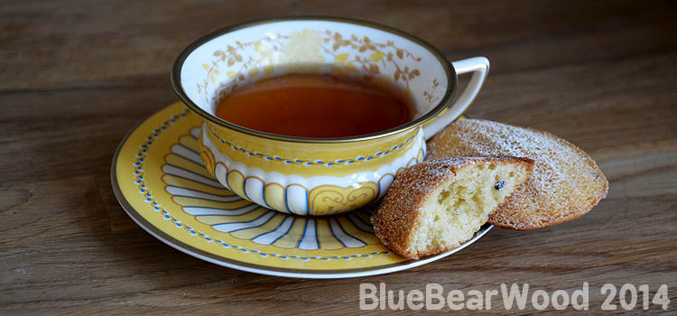 Lavender Madeleine and Earl Grey Tea
