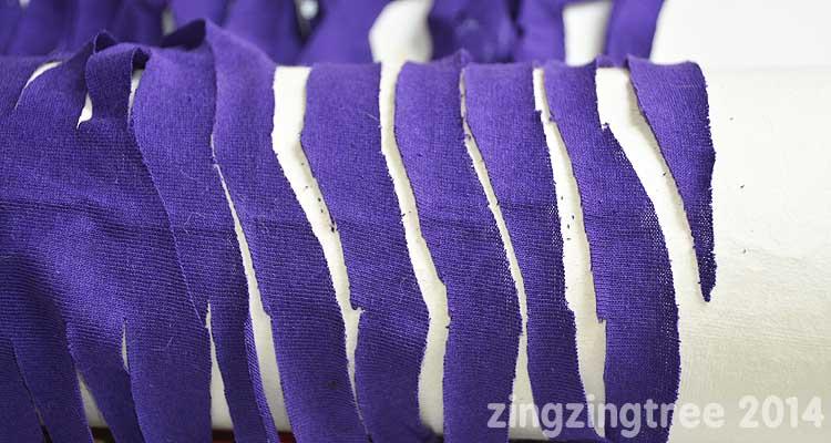 T-Shirt Yarn diagonal cuts