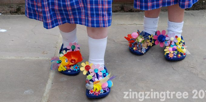 DIY Flower Shoes